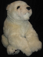 EXCELLENT CONDITION,POLAR BEAR, DISCOVERY CHANNEL STUFFED ANIMAL