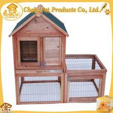 High Quality Outdoor Rabbit Hutch With Upper Tower House Pet Cages, Carriers & Houses