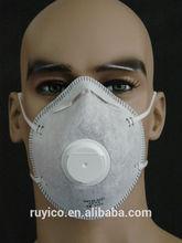 disposable nonwoven valve & carbon N95 FFP2 dust mask