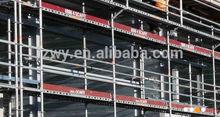 mobile scaffolding with platform for highland work