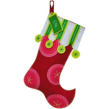 2015 fashion hotsale cheap wholesale China supplier red felt hanger stockings gifts , mini Christmas decoration stockings bulk