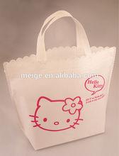BSCI Audit factory bulk reusable shopping bag / custom printed shopping bag / pink shopping bag