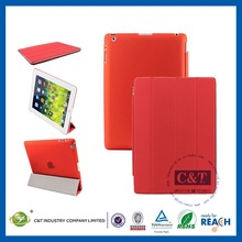 Newest and fashion case leather cover for ipad 3/2/4