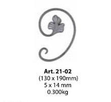 new products c-scroll with leaf for gate railing fence stairs parts
