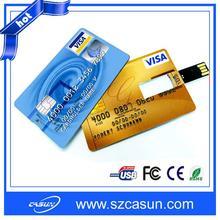 Manufactory wholesale card shape usb flash. customized logo