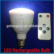 E27 B22 2W LED self charging led light rechargeable led magic bulb