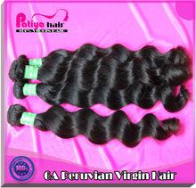 lovely virgin Peruvian hair ,high quality &cheap virgin Peruvian human hair