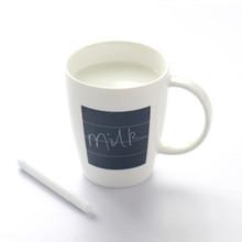 Funny leave massage ceramic coffee mug / writing coffee mug, memo mug