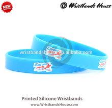 24hours blue good quality wristband   24hours wristbands printed bands   24hours wristbands Customized printed silicone bracelet