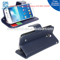 PU Leather Wallet Stand Cover Case For Samsung Galaxy S4 Mini i9190 Mix color