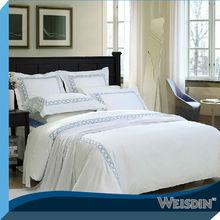 Hôtel ensemble de literie blanc Jacquard ligne de lit d'hôtel