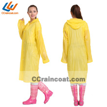 Promotional fashionable long pvc rain poncho 2014 new