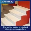 pietra artificiale colore bianco gradini esterni
