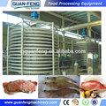 Blast freezer espiral transportadora/iqf filé de peixe congelado máquina/espiral freezer rápido
