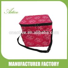 Flower print food cooler bag