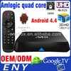 OEM amlogic s802 2.0ghz ultra hd 4k 3d blu-ray player google android 4.4 android smart tv box