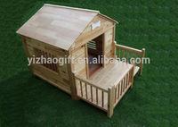 Wooden cardboard dog house