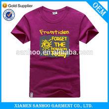Factory Supply High Quality 100% Cotton Preshrunk Custom Printing Casual Round Neck T Shirt