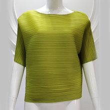 Medio verde de la manga holgada de la gasa de la blusa de encaje 2014 japonés ropa para mujer Top tallas grandes