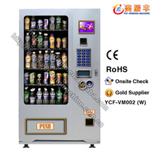 (YCF-VM002) hot selling bread vending machine automatic coin operated machinery in alibaba