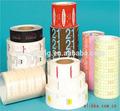 Etiqueta adhesiva de reciclado de papel etiqueta de la caída/etiquetas