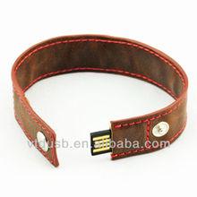 Promotion gift usb flash drive bulk cheap 512gb usb stick bracelet usb leather