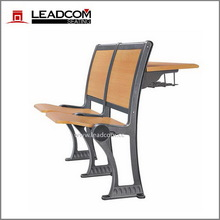Leadcom wood back lecture hall chair with desk LS-908M