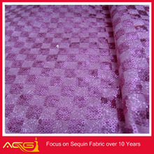 Sequined Emboridered cheap spandex mesh dye sublimation printing for fabric