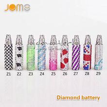2014 Best selling e cigarette battery diamonds 650mah blingbling diamond for ego battery