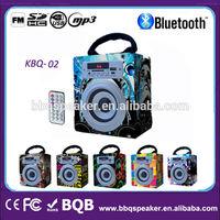 new gadgets 2014 micro sd usb radio wood mini bluetooth speaker with BQB certification