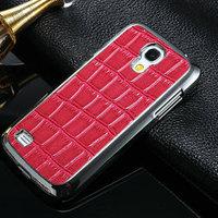 crocodile pattern for Samsung Galaxy S4 Mini leather protective case
