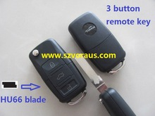 VW Volkswagen 3 button remote key with 433 mhz,48 CAN chip, BORA/LAVIDA, After 2005