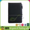Black leather sticky memo pad