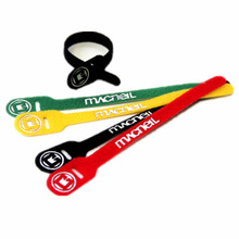 Colorful reusable custom logo durable velcro cable strap wire wraps office-use easy handle hook and loop one wrap cable ties