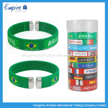 World cup thin silicone wristband