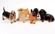 polyresin resin garden statue dog
