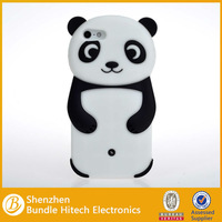 soft gel case for iphone 5 5s soft silicone phone cover case 3D cute panda phone skin cover
