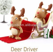 Deer shape usb drive bulk 1gb usb stick wholesale usb pen drive gift promotion