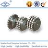 24B-2 roller chain DIN ISO standard 1/2*1'' 45C pitch 38.1 roller 25.4 37T duplex sprocket