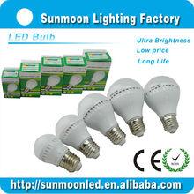 3w 5w 7w 9w 12w e27 b22 ce rohs 2014 silver led bulb light