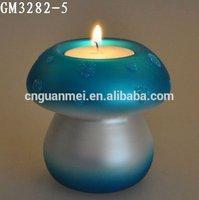 Beautiful Home Decor Glass Mushroom Candle Holder