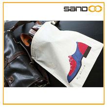 2014 New design wal-mart audit factory Drawstring Cotton Shoe Bag