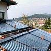 All glass horizontal vacuum tube solar collectors
