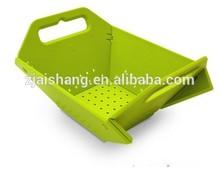 European Fashionable First Rate High Quality food grade plastic folding basket Bpa free