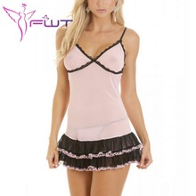 High Quality Super Comfortable Women Underwear Sexy Lingerie Pink sexy baby doll