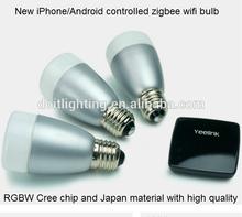 iphone controlled 6w E27 led wifi bulb,made in China