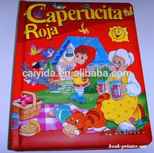 Hard cover children cardboard paper book printing service