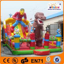 Creative design amusement park huge inflatable spiderman slide for kids