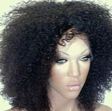 Proffessional manufacturer hot selling kinky curl full lace wig