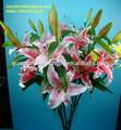 Artificial tela de seda de la flor del lirio / de china de la tela Lily flores / flores de lirio Artificial